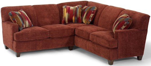 Flexsteel Dempsey Contemporary 2 Piece Sectional Sofa with LAF Loveseat