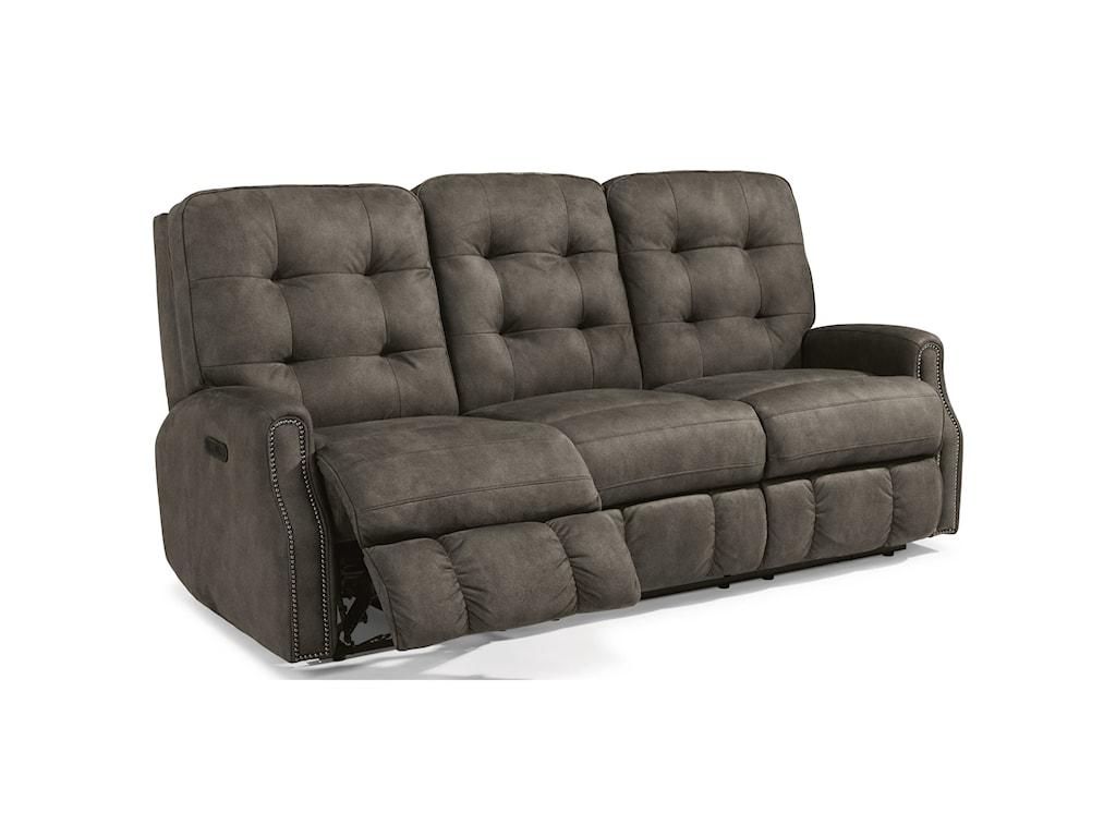 Flexsteel DevonPower Reclining Sofa with Power Headrests