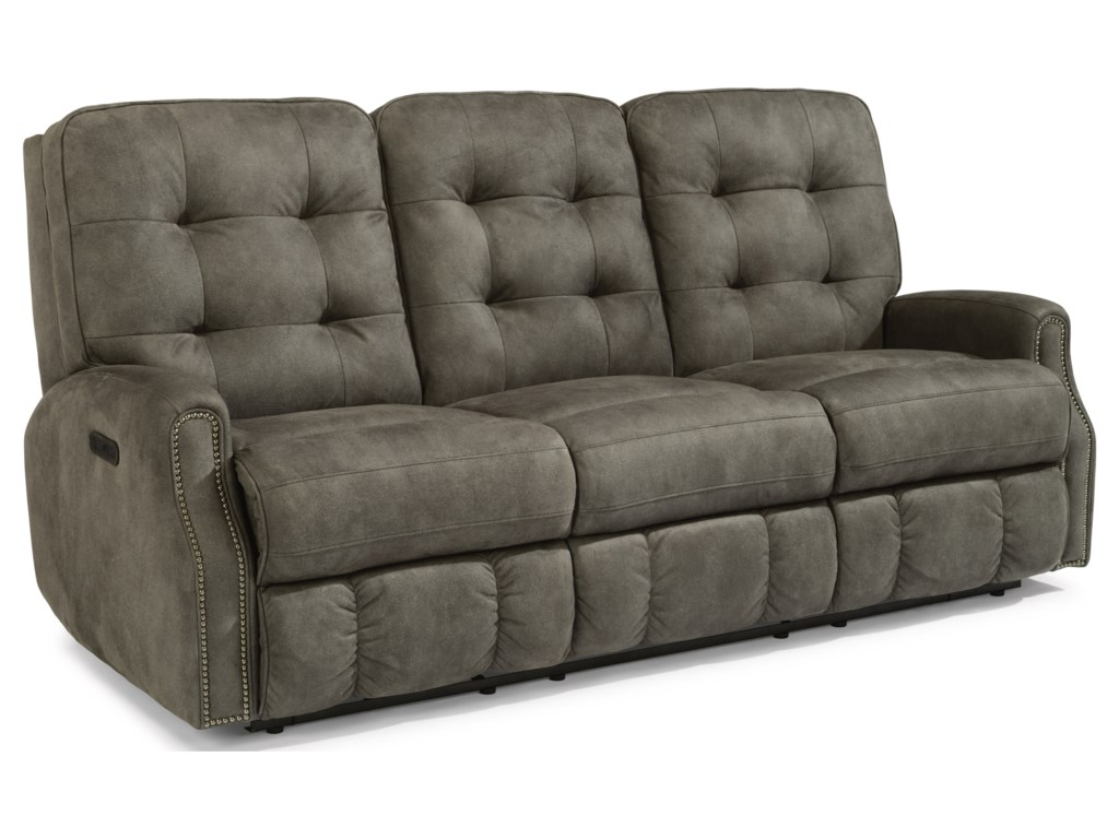 Flexsteel DevonPower Reclining Sofa with Power Headrests