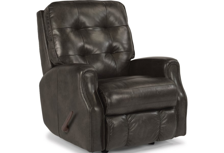 Flexsteel Devon 3882 50 Manual Recliner With Tufting O Dunk O Bright Furniture Recliners