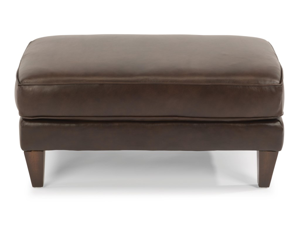 Flexsteel BrunoLucas Leather Cocktail Ottoman