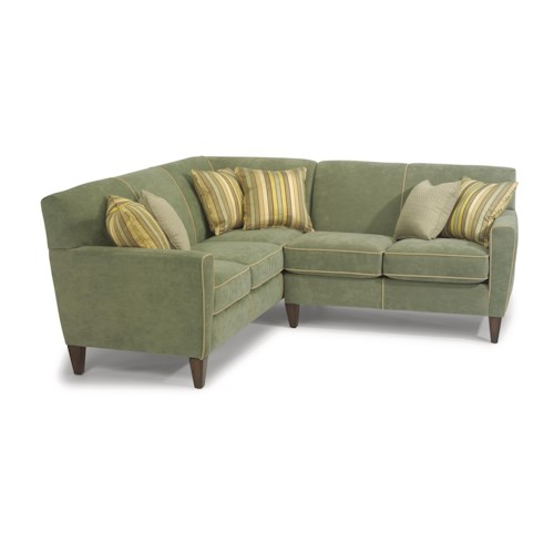 Flexsteel Chazz Contemporary L-Shape Sectional Sofa