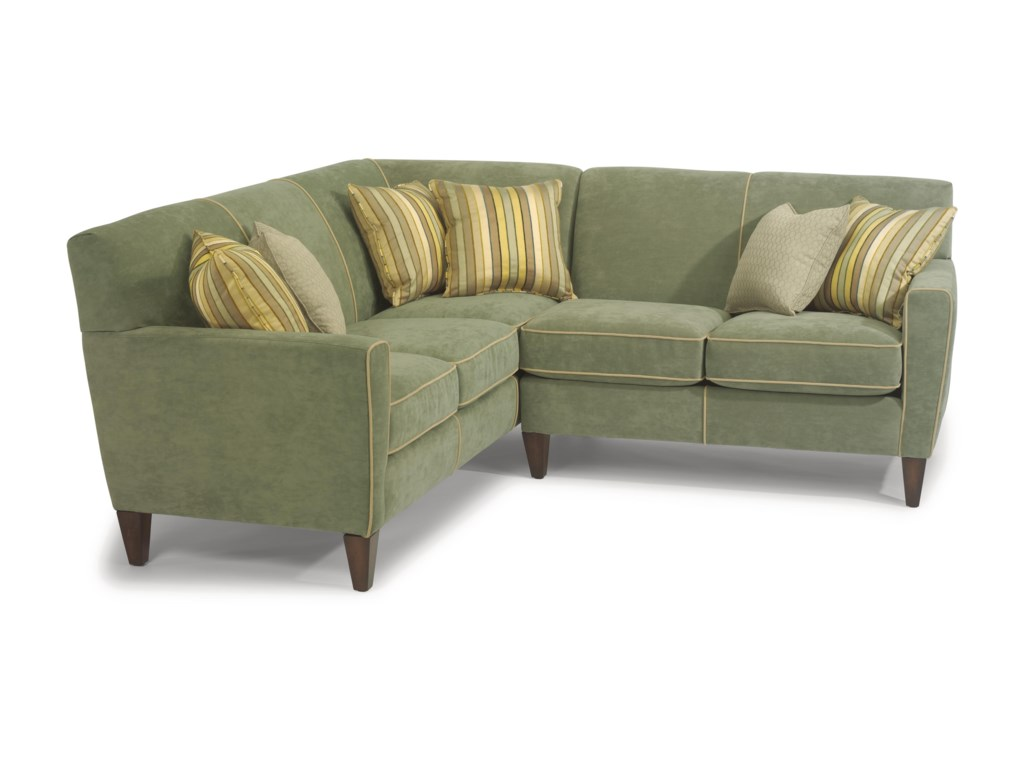 Digby Contemporary L-Shape Sectional Sofa by Flexsteel at Wayside Furniture