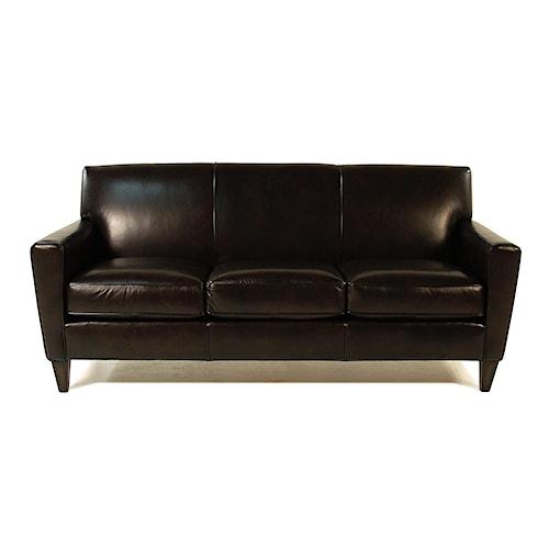 Flexsteel Chazz Leather Upholstered Sofa
