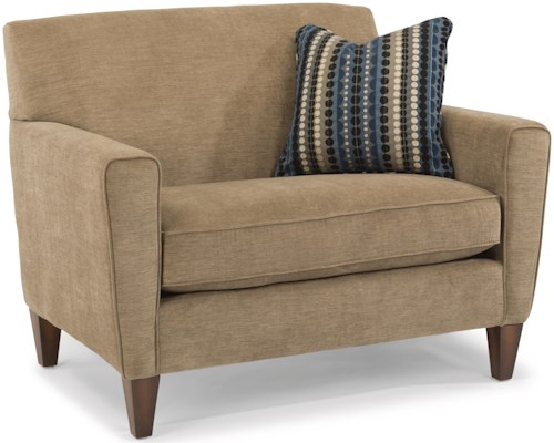 Flexsteel Digby Contemporary Chair and 1/2