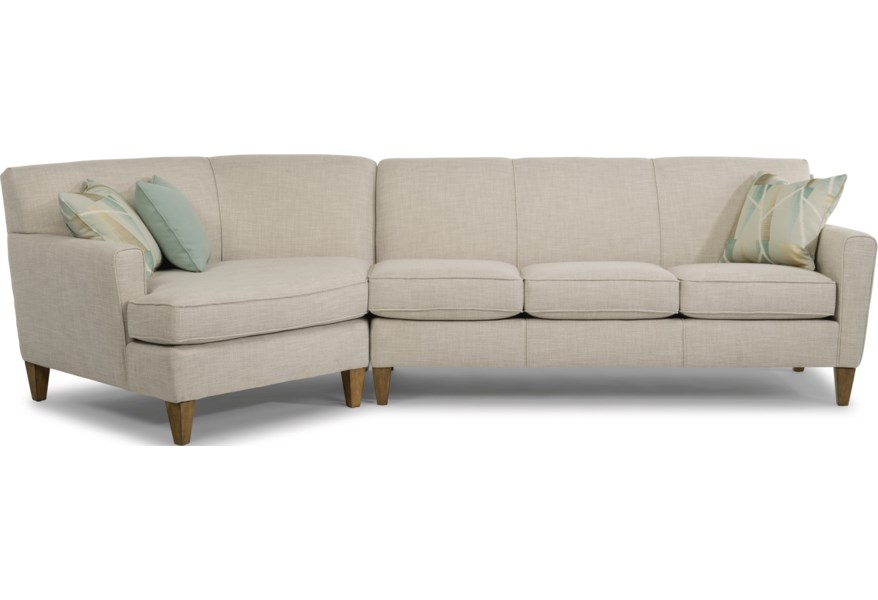 Piece Sectional With Laf Angled Chaise