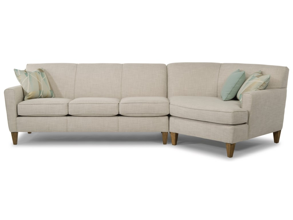 Flexsteel Bruno2-Piece Sectional with RAF Angled Chaise