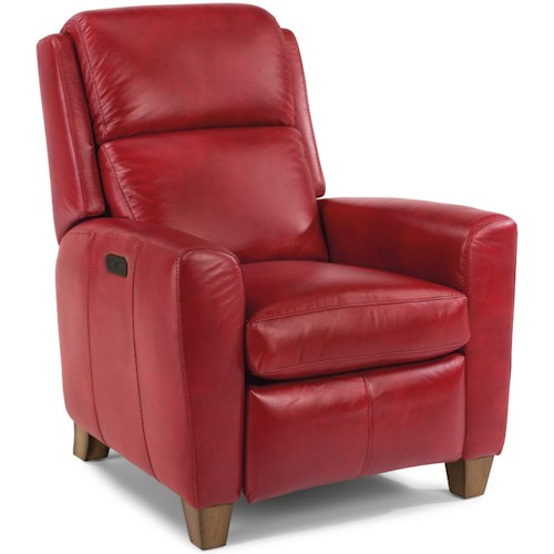 Flexsteel Dion Contemporary Power High-Leg Recliner with Power Headrests and USB Port