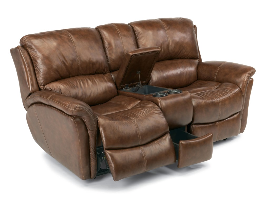 Flexsteel Latitudes - DominiquePower Love Seat with Console
