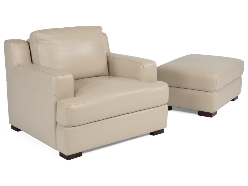 Flexsteel Latitudes- DowdPower Adjustable Back Chair and Ottoman