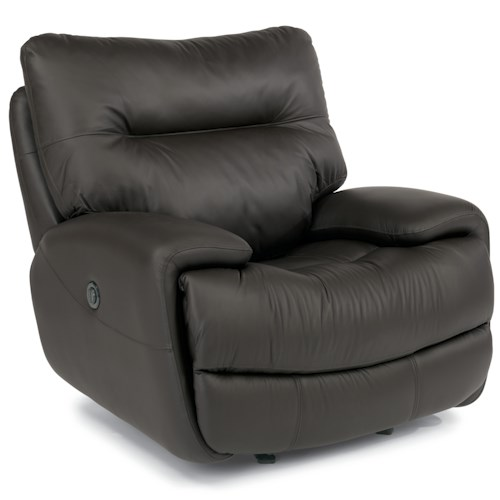 Flexsteel Latitudes - Evian Power Glider Recliner with Large Pillow Arms