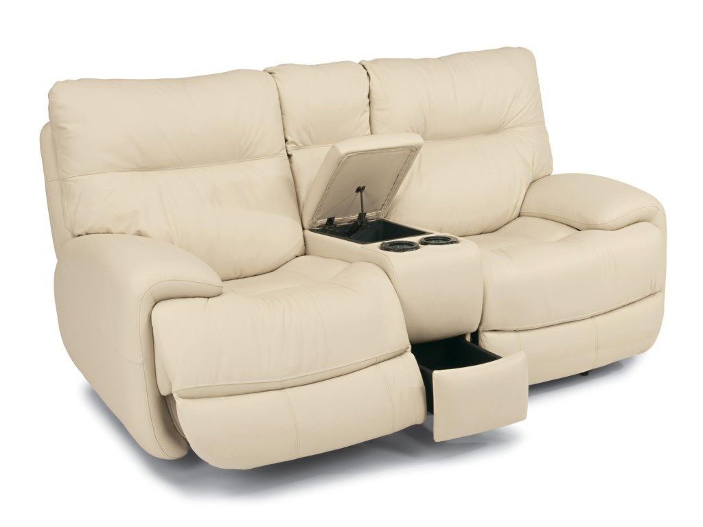 Flexsteel Latitudes - EvianPower Love Seat with Power Headrests