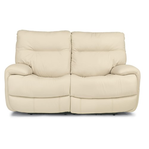 Flexsteel Latitudes - Evian Power Reclining Love Seat with Large Pillow Arms