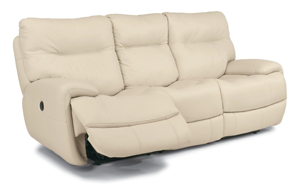 Flexsteel Latitudes Evian 1447 62p Power Reclining Sofa With  ~ Dual Reclining Sofa With Drop Down Table