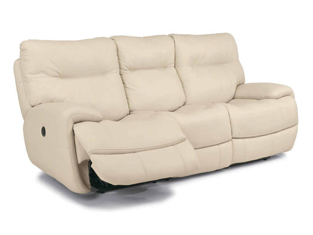 Flexsteel Latitudes - EvianPower Reclining Sofa with Power Headrest