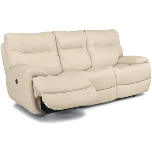 Flexsteel Latitudes - Evian Power Reclining Sofa with Fold Down Middle Console