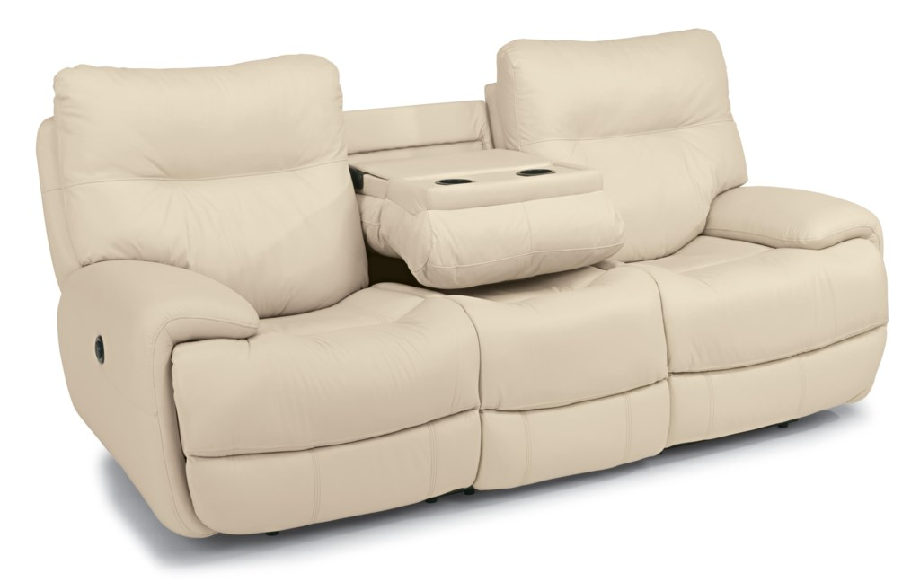 Flexsteel Latitudes Evian 1447 62p Power Reclining Sofa With  ~ Sofa Recliner With Console