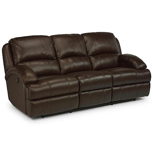 Flexsteel Latitudes Fast Lane Double Power Reclining Sofa Turk Furniture Reclining Sofa