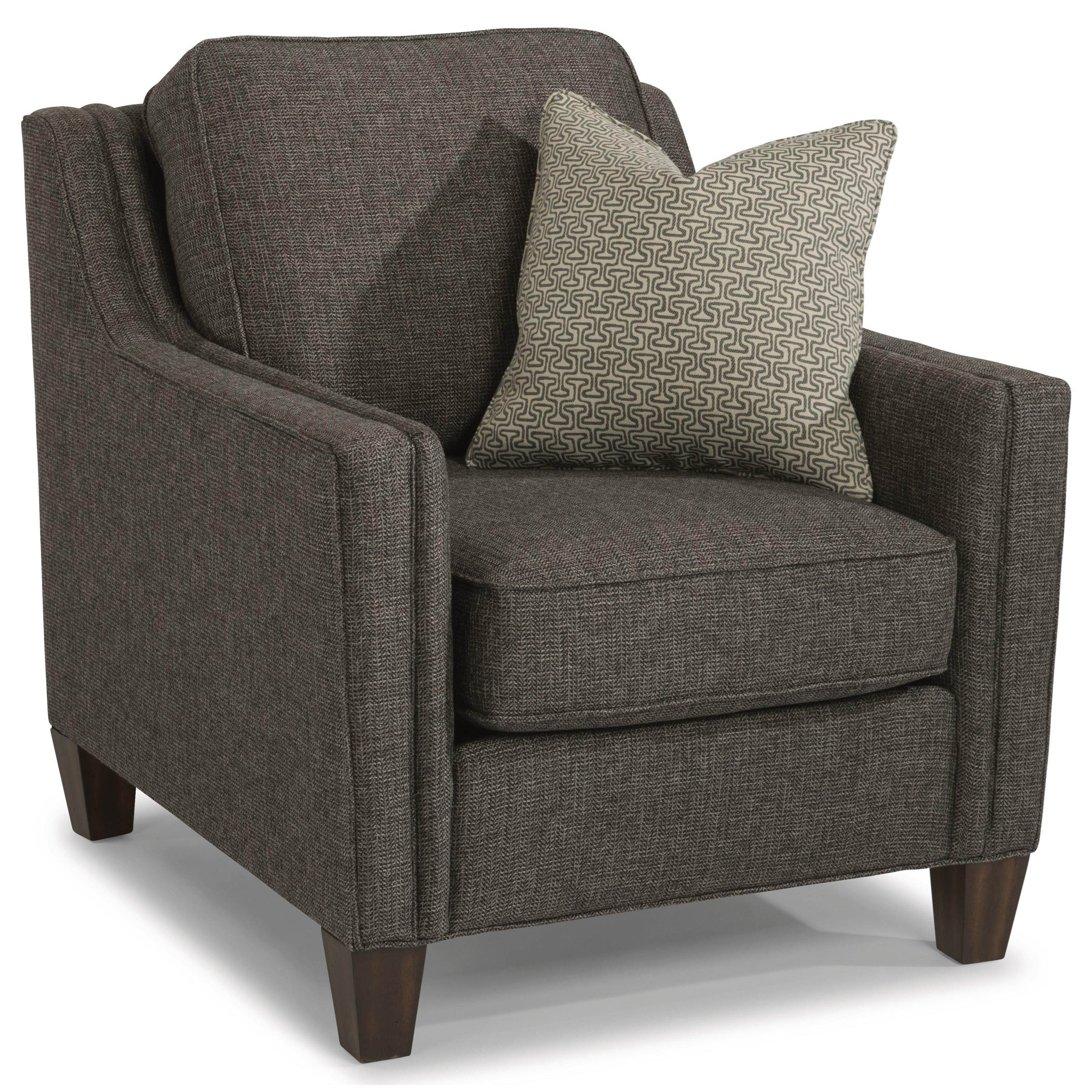Flexsteel Kimball Contemporary Chair With Track Arms | Crowley Furniture |  Upholstered Chairs