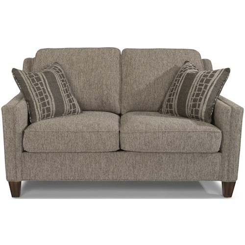 Flexsteel Finley Contemporary Loveseat with Track Arms