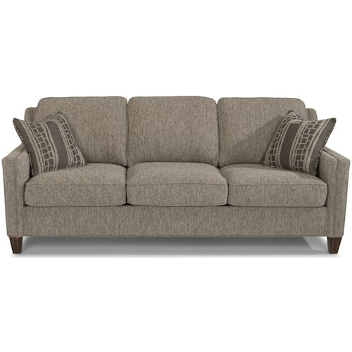 Flexsteel Finley Contemporary Sofa with Track Arms