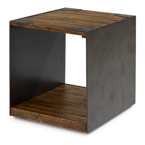 Flexsteel Flat Iron Rustic End Table