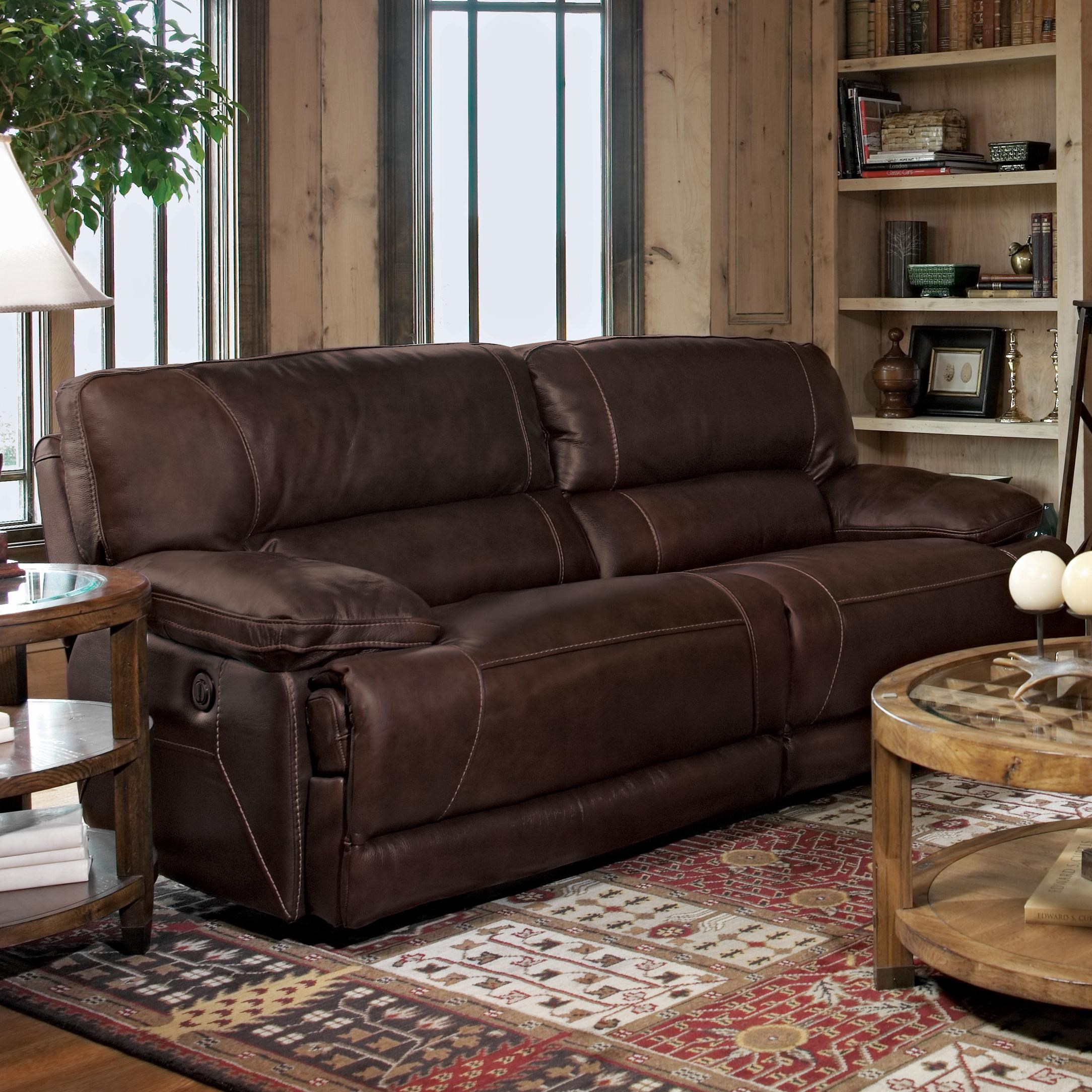 Flexsteel Fleet Street Double Power Reclining Sofa - Wayside