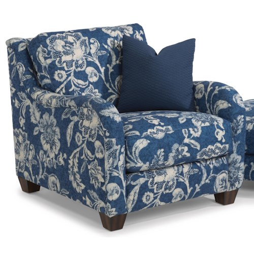 Flexsteel Fortuna Transitional Chair with English Arms