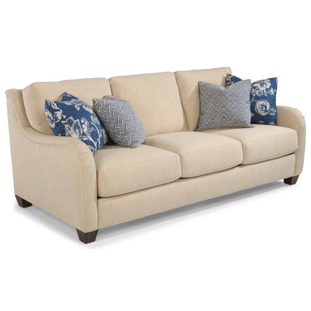 Flexsteel Fortuna Transitional Sofa With English Arms Belfort  ~ What Is A Transitional Sofa