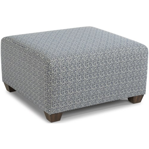 Flexsteel Freedom Contemporary Square Cocktail Ottoman