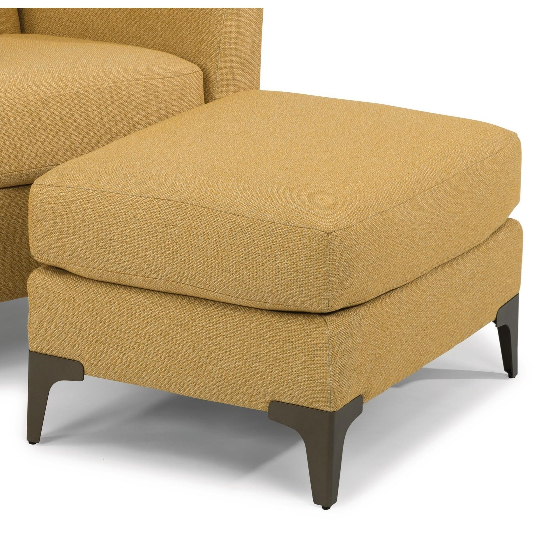 Picture of: Flexsteel Gibson Mid Century Modern Ottoman With Metal Legs Conlin S Furniture Ottomans