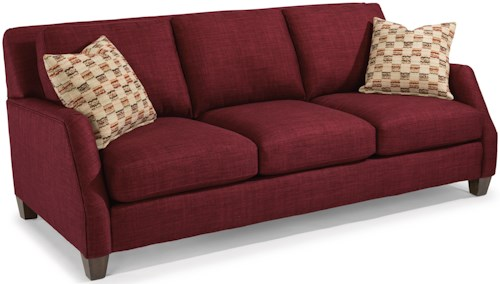 Flexsteel Gina Transitional Sofa with Tall, Tapered Legs