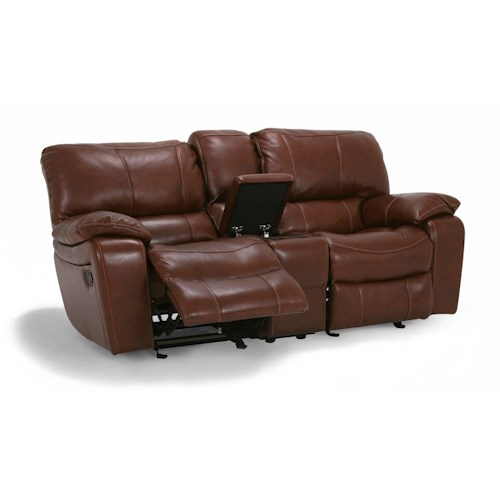 Flexsteel Latitudes Grandview Double Power Reclining Love Seat With Center Console Boulevard
