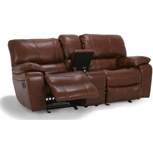 Flexsteel Latitudes - Grandview Double Power Reclining Love Seat with Center Console