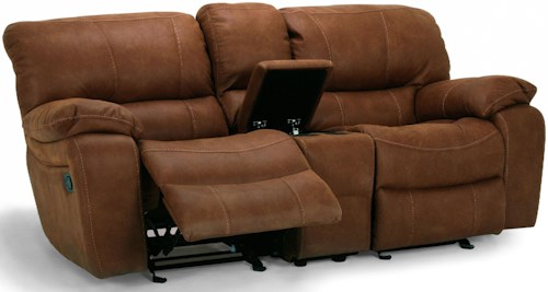 Flexsteel Latitudes - Grandview Double Reclining Love Seat with Center Console