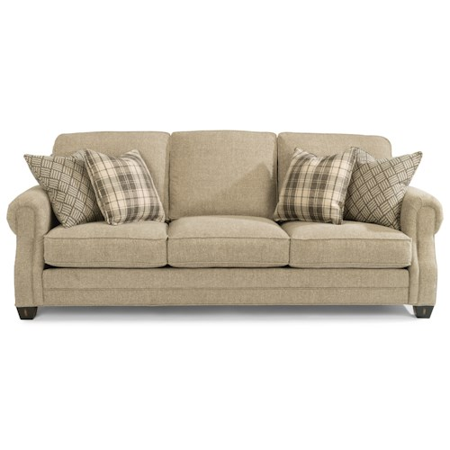 Flexsteel Gretchen Sofa with Rolled Panel Arms