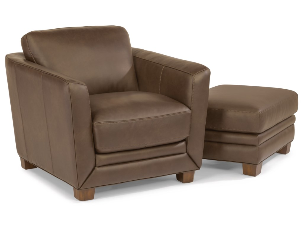 Flexsteel Latitudes-HadleyChair and Ottoman Set