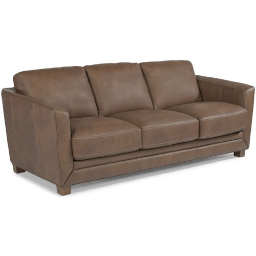 Flexsteel Latitudes-Hadley Contemporary Sofa with Sloped Track Arms