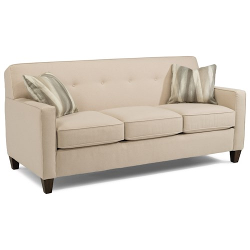 Flexsteel Haley 5724 Transitional Sofa with Tapered Wooden Legs
