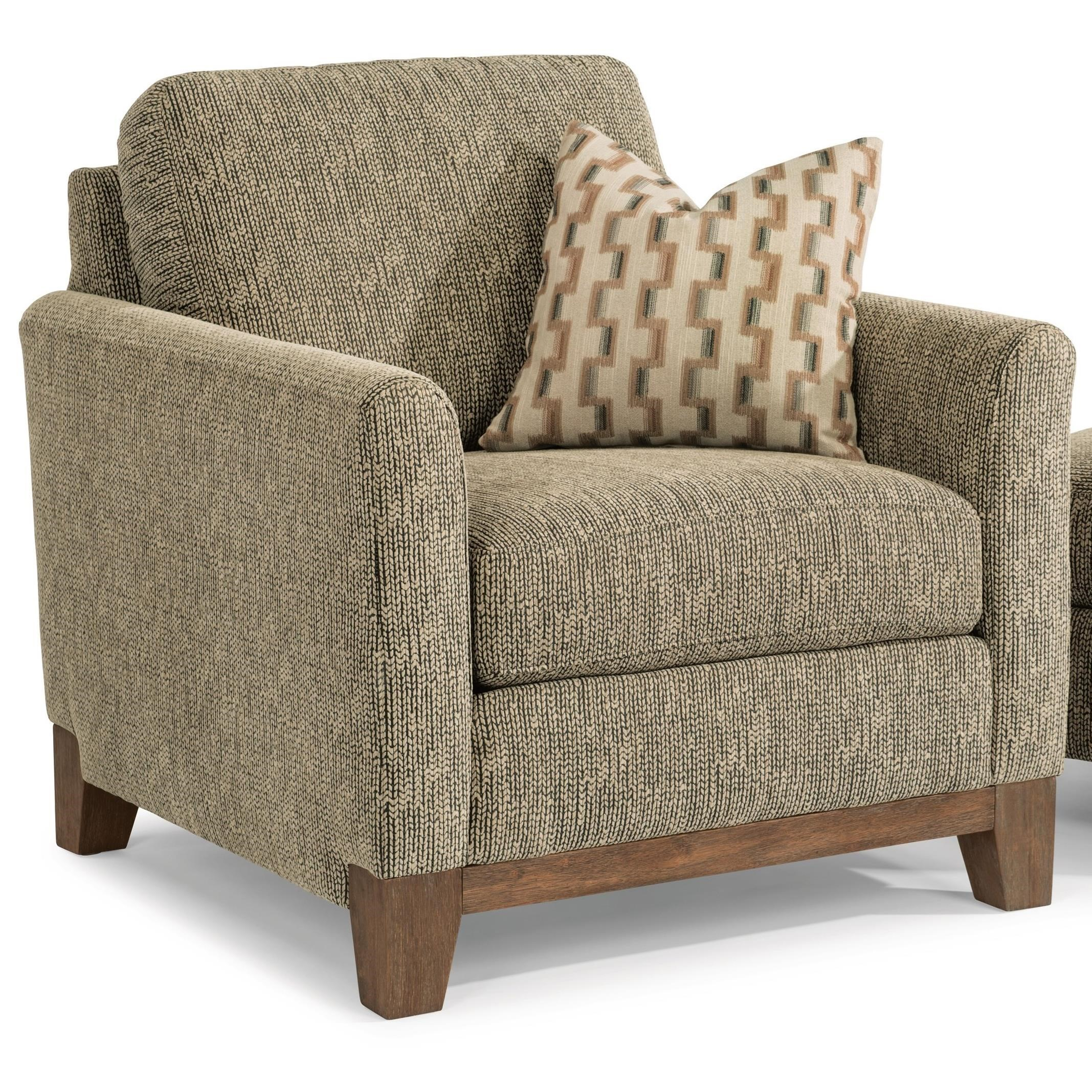 Flexsteel Hampton Transitional Chair With Exposed Wood Base Rail | Belfort  Furniture | Upholstered Chairs