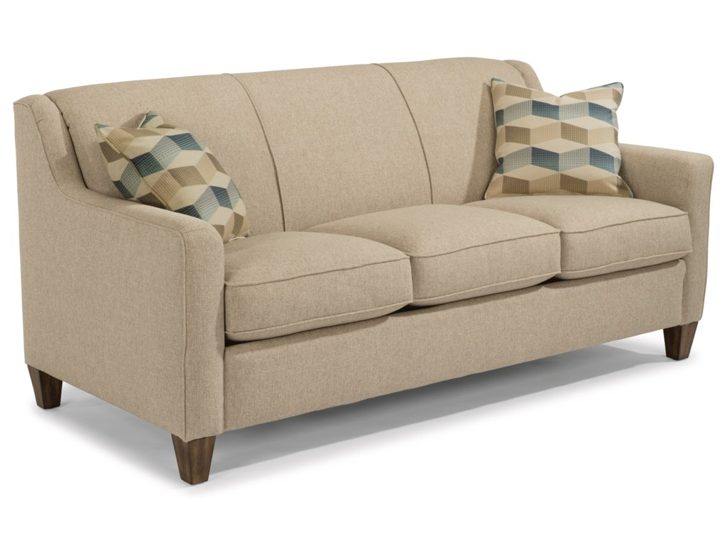 Holly Contemporary Sofa with Angled Track Arms by Flexsteel at Dunk &  Bright Furniture