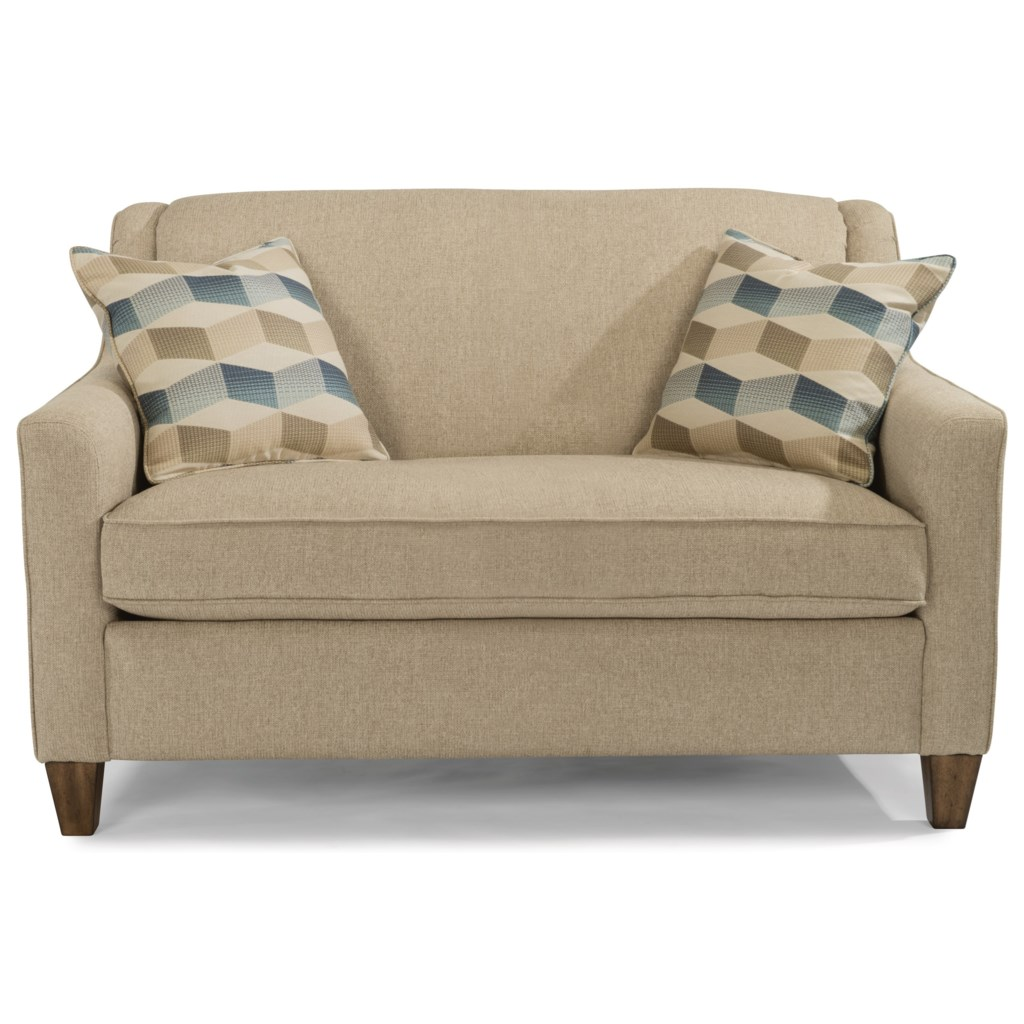 Flexsteel holly 5118 41 contemporary twin sleeper sofa with angled track arms dunk bright furniture sleeper sofas