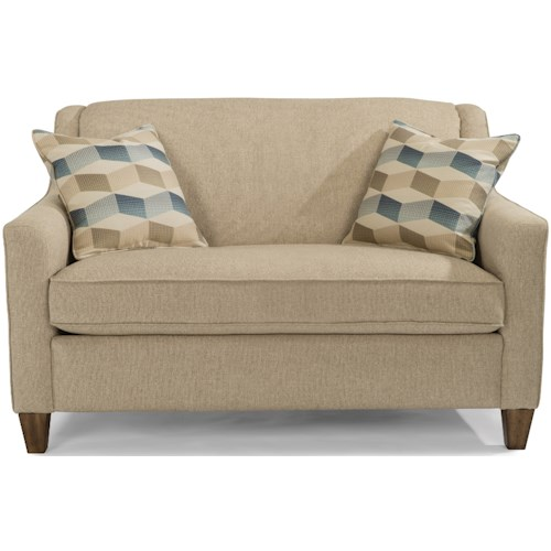 Flexsteel Holly Clacs Only Contemporary Twin Sleeper Sofa With Angled Track Arms