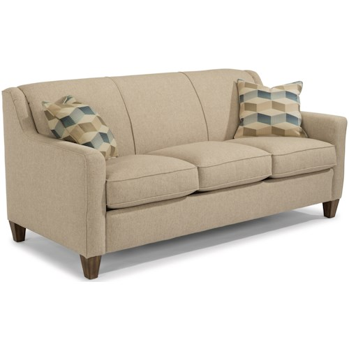 Flexsteel Holly Contemporary Queen Sleeper Sofa With Angled Track Arms
