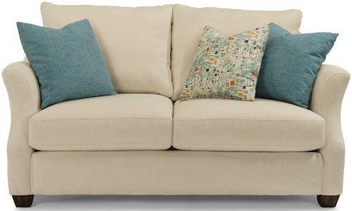 Flexsteel Hope Transitional Love Seat with Loose Back Pillows