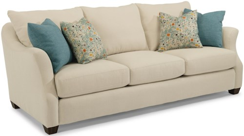 Flexsteel Hope Transitional Sofa with Loose Back Pillows