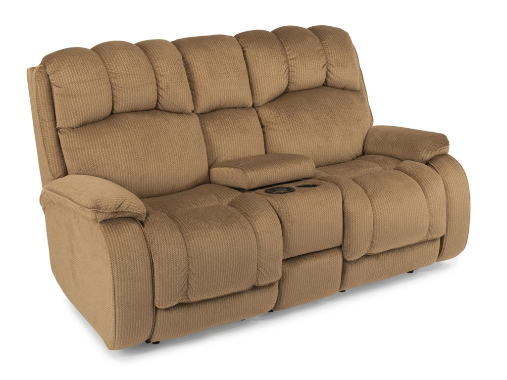 Flexsteel HuronPower Reclining Loveseat w/ Console