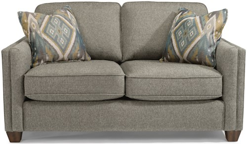 Flexsteel Hyacinth Contemporary Love Seat with Welt Cording