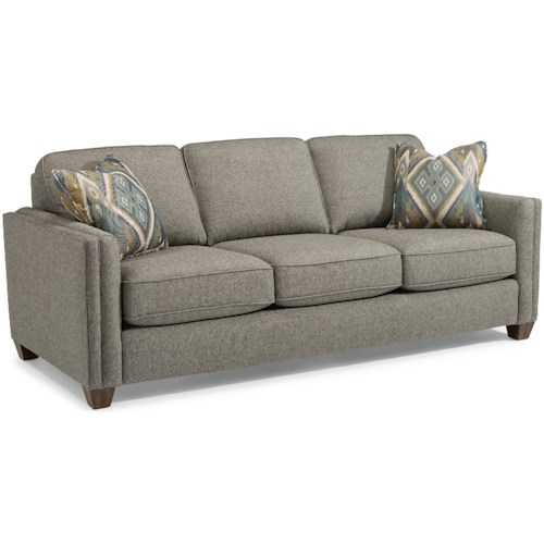 Flexsteel Hyacinth Contemporary Sofa with Welt Cording