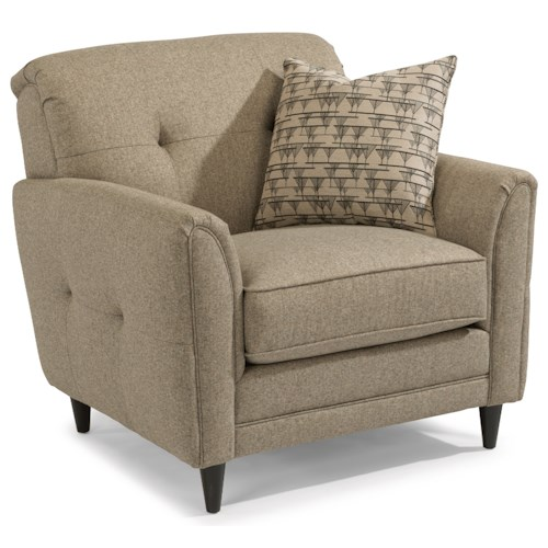 Flexsteel Jacqueline Relaxed Vintage Chair with Button Tufting